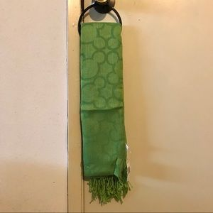 NEW Disney Green Mickey Mouse Outline Scarf